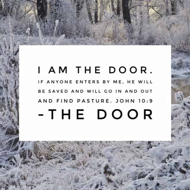 Jesus, the Door. He stands at the door of our hearts knocking and yet all the while, He himself is the door, opening up to a new way of life. The abundant life. #namesofGod #biblereading#biblereadingplan