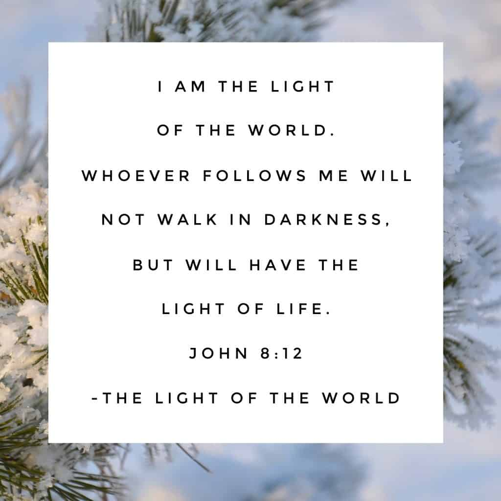 """It's interesting to me that Jesus began to speak about being the Light of the world just after the story of the adulterous woman who was condemned by the Pharisees. """"Let him who is without sin cast the first stone,"""" Jesus said to the accusers. And the men with pointing fingers tucked them away and walked away one by one. Light brings conviction. Light splits darkness. Light provides life. #namesofGod #biblereadingplan#biblereading Day 30"""