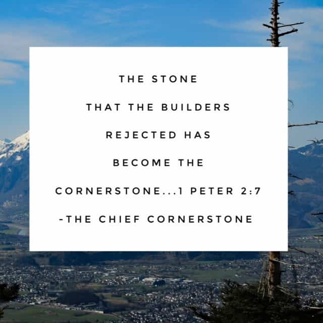 Today's passage for the final #namesofGod #biblereadingplan seems perfect to end the month and year. I've been thinking this morning on the basis for everything I do- Jesus, the Chief Cornerstone. And if we build on this foundation, we can rest securely!! #biblereading