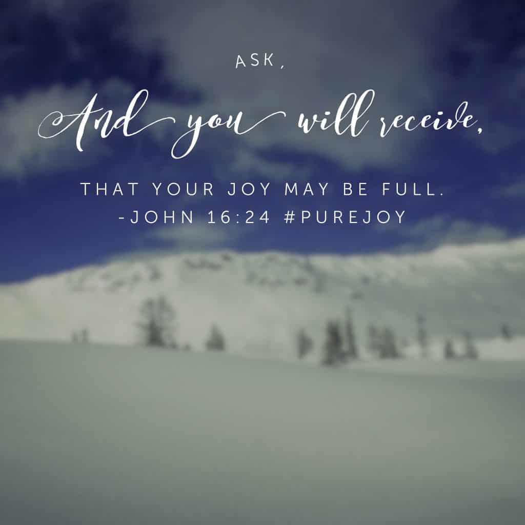 Pondering this morning about how many times I have missed out on the joy of my God simply because I haven't prayed and asked. Draw me closer, Lord. #purejoy #biblereadingplan #biblereading