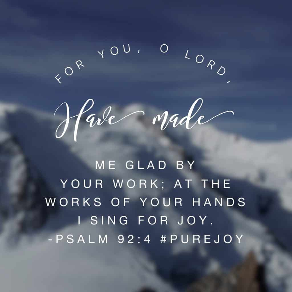 David knew the importance of praise. I adore his reflection on God's work in his life and it makes me want to do the same thing! Lord, this morning I praise you for life and breath. I praise you for saving me. Thank you, Jesus, for loving me and always doing what is best for me. I'm thankful for your mercy, your grace and your love. Thank you for bringing joy into my life when I look back on your work! May my heart continue this day in the same manner, singing for joy at the work of your hands. #purejoy #biblereadingplan#biblereading #journaling