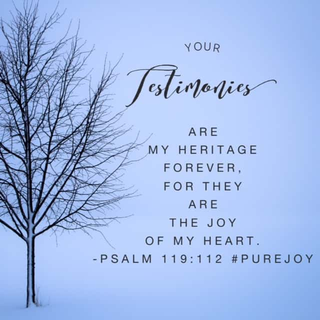 My heart is in total agreement with David in our #purejoy#biblereadingplan passage today. God's Word brings me so much joy; I can't live without soaking up his promises. It hasn't always been that way and I'm so grateful that he has taught me to love his love letter. Have a super Saturday!!
