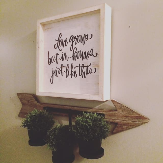 """Love grows best in houses just like this."" I've been thinking over this little quote since I hung it in the hall last week. You see, our house is ..."