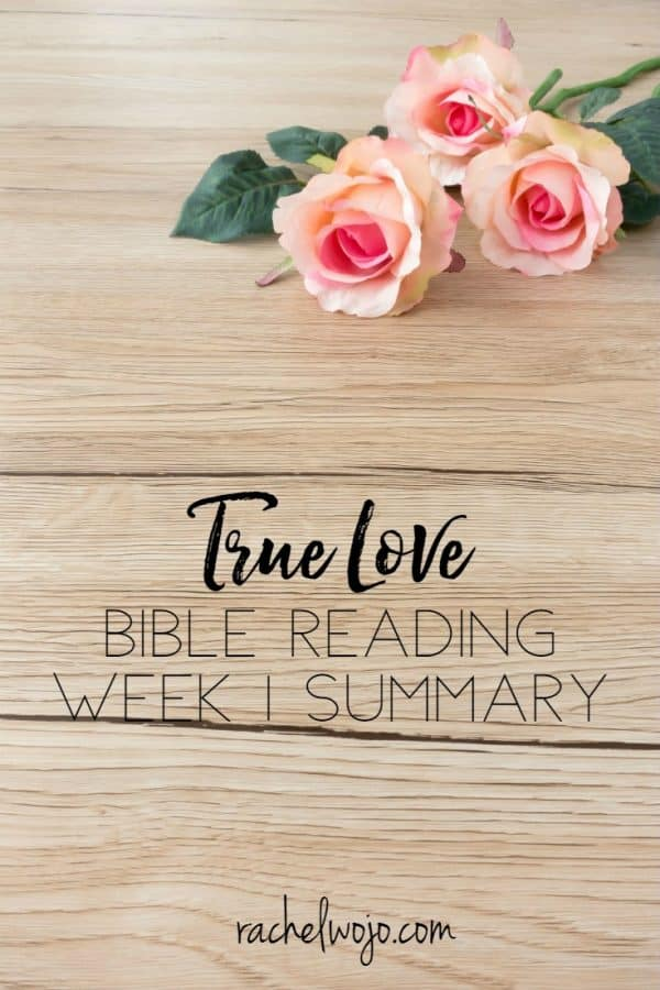 True Love Bible Reading Challenge Week 1 Summary