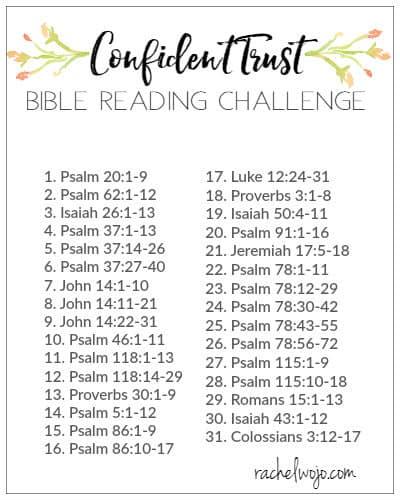 Confident Trust Bible Reading Challenge - RachelWojo.com
