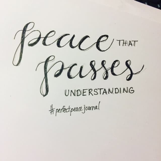 Only Christ can offer perfect peace- the kind that goes beyond understanding. Reminding myself of that and sharing my imperfectly perfect #handletteringpractice with you. ;) #perfectpeacejournal #biblereadingplan#biblereading