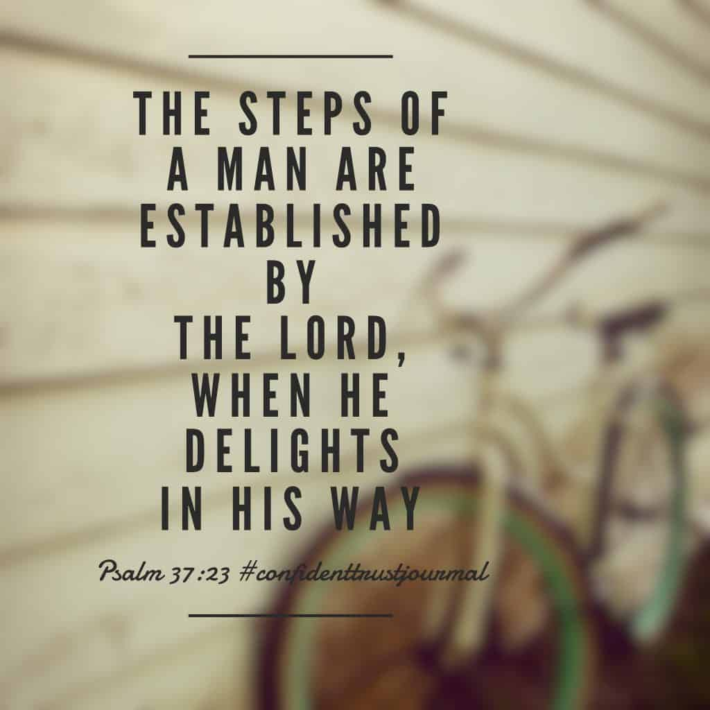 Find acceptance, delight and pleasure on God's path for you; he will secure your steps, strengthen your faith, and establish your direction. Thank you, Lord, for being the God of trustworthiness!#biblereadingplan#biblereading #confidenttrustjournal