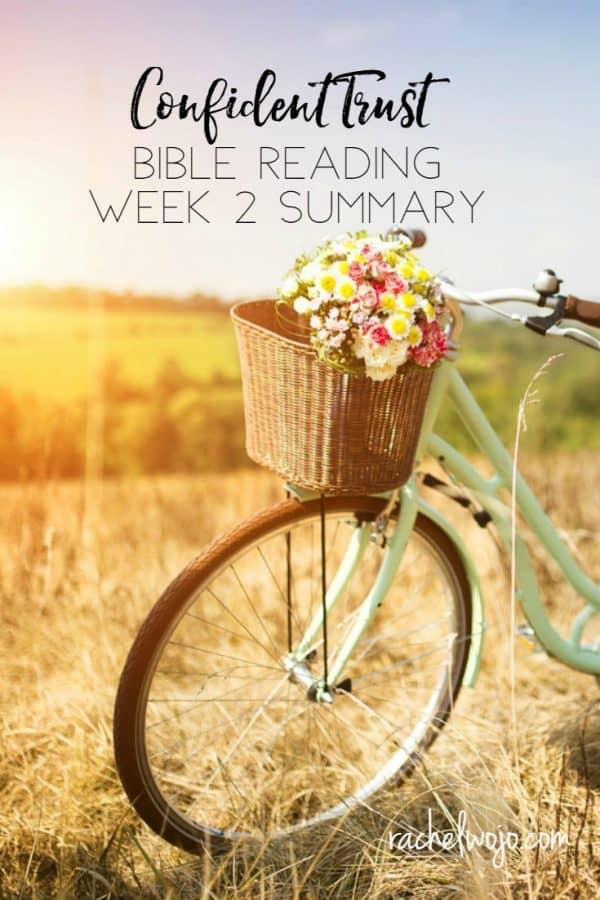 Confident Trust Bible Reading Plan Week 2 Summary