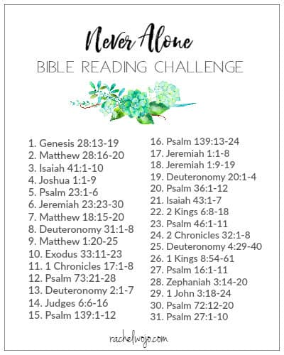 Never Alone Bible Reading Plan & Journal Challenge ...