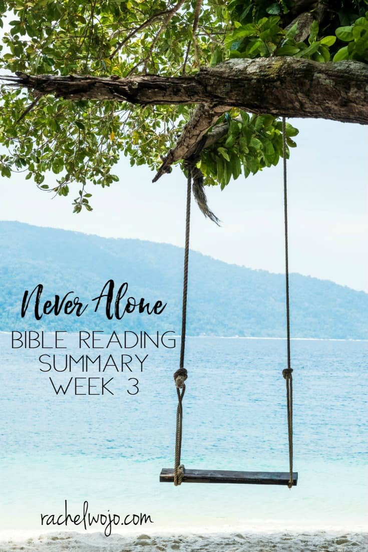 Never Alone Bible Reading Challenge Summary Week 3
