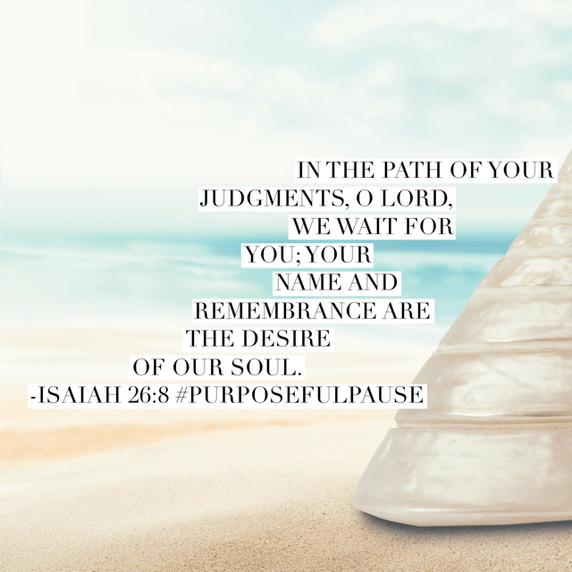 """This morning's#purposefulpause#biblereadingplanverses caused me to pause all right. I was immediately convicted and thought, """"Is God's name and His glory really the desire of my soul?"""" Because when I'm waiting on God, it seems like in my impatience, the truth is I want my way more than his. Jesus, forgive me and mold my heart to your desire. I yield myself anew this moment. Amen.#waitingonGod#biblereading"""