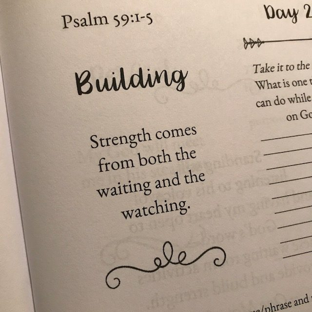 "In today's psalm, David was in a place of waiting because men were lying in wait for his life. It would have been easy to forget that God was in complete control. He always uses the waiting room to build strength. Perhaps the ""wait"" room should be renamed the ""weight"" room? #purposefulpause #biblereadingplan #waitingonGod #biblereading"