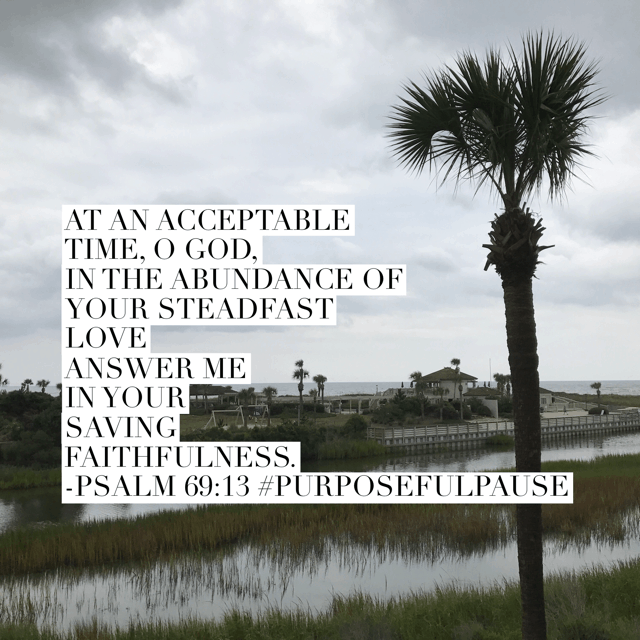 At an acceptable time. Lord, your acceptable time. Not mine. I don't want to get it wrong. Help me embrace your waiting space. #purposefulpause #biblereadingplan #waitingonGod #biblereading