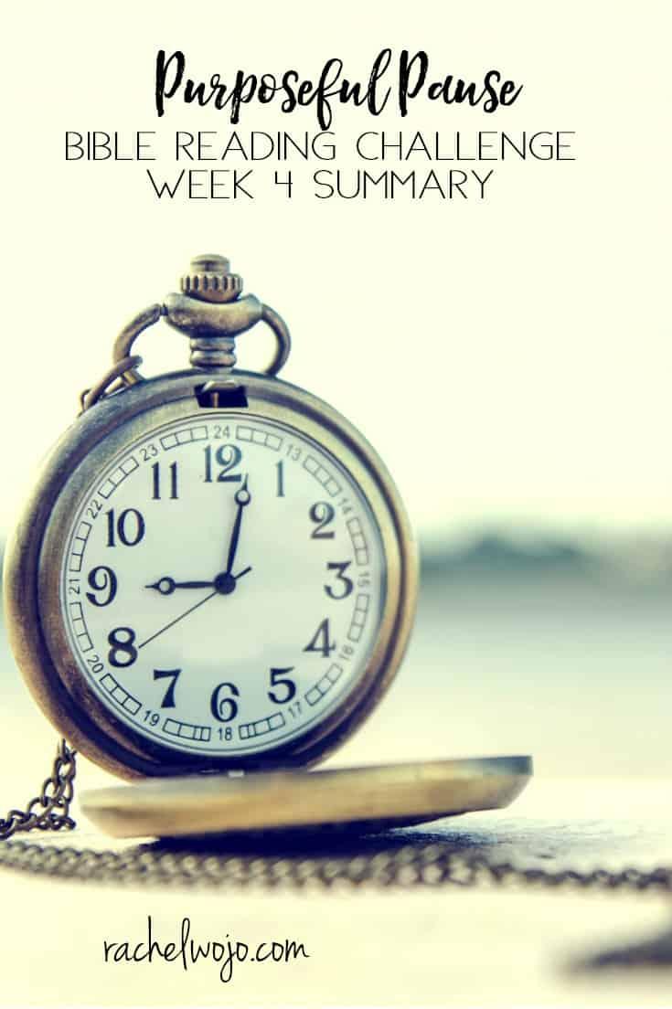 Purposeful Pause Bible Reading Challenge Week 4 Summary