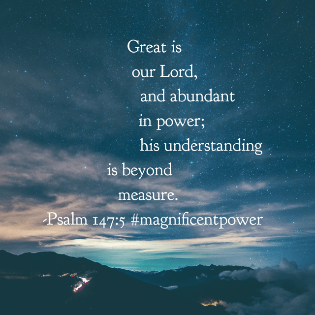 He heals the brokenhearted and binds up their wounds. He determines the number of the stars; he gives to all of them their names. And these are just a few of the awesome things our God does in his power. Praising him this morning! #godisbiggerjournal #magnificentpower #biblereadingplan #biblereading