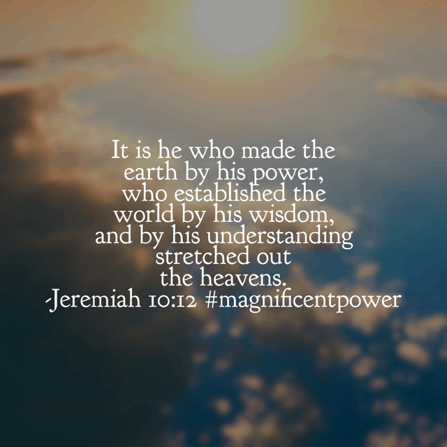 It is he. Our God holds the power of all heaven and earth in the palm of his hand and in the whisper of his voice. Wisdom and understanding are his and for this we can trust him fully. Have a super Saturday knowing God is BIGGER than anything you face!#biblereading#biblereadingplan#magnificentpower#godisbiggerjournal