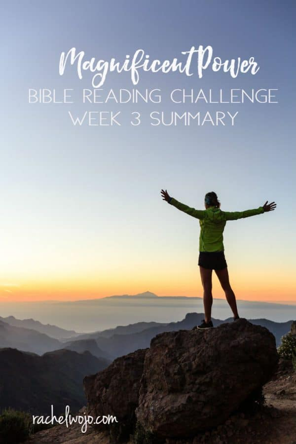 Magnificent Power Bible Reading Challenge Week 3 Summary