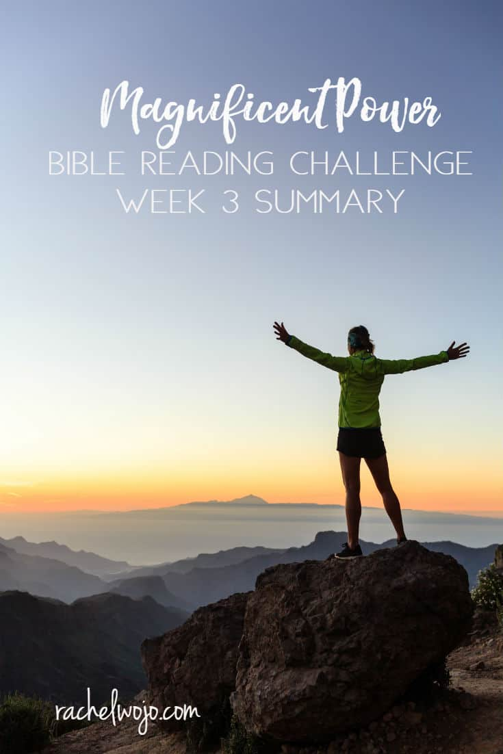 September is flying by, Friends! I have enjoyed this month's Bible reading plan so very much. The reminders of God's magnificent power have come at the perfect times; perhaps for you too? Let's check out the Magnificent Power Bible Reading Challenge Week 3 Summary. Ready?