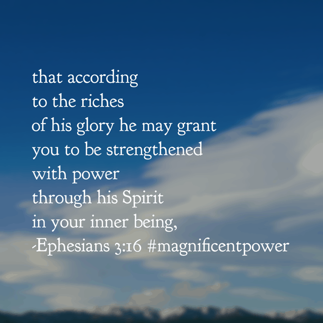 You are empowered as a child of God to do what He called you to do. Doesn't matter if it is scrubbing floors, changing diapers, answering phones, washing dishes, sending emails... no matter the task, His power is at work in us! Have a thriving Thursday knowing the same power that rose Jesus from the grave lives in us!! #magnificentpower #biblereadingplan#biblereading #godisbiggerjournal