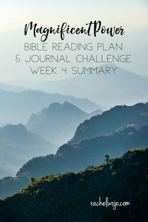 Magnificent Power Bible Reading Challenge Week 4 Summary
