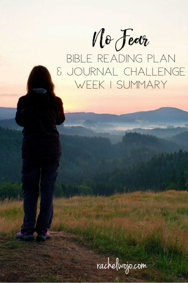 No Fear Bible Reading Challenge Week 1 Summary