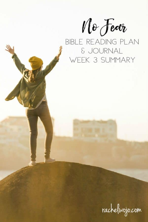 No Fear Bible Reading Challenge Week 3 Summary