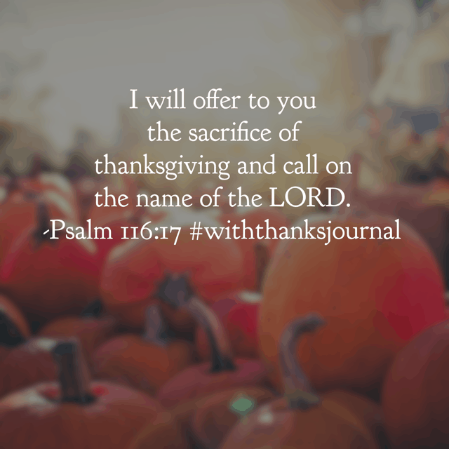 """This morning I read our#withthanksjournal#biblereadingplanand then I re-read it again from the beginning of Psalm 116. God's Word speaks so personally to my soul. The testimony of David, the psalmist, is mine as well: """"For you have delivered my soul from death, my eyes from tears, my feet from stumbling; I will walk before the LORD in the land of the living."""""""