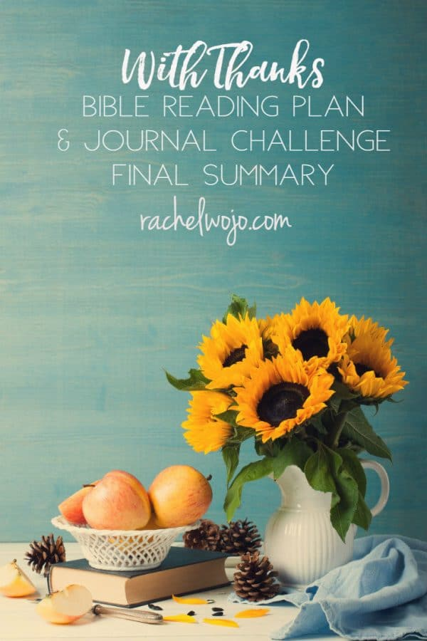 With Thanks Bible Reading Challenge Final Summary