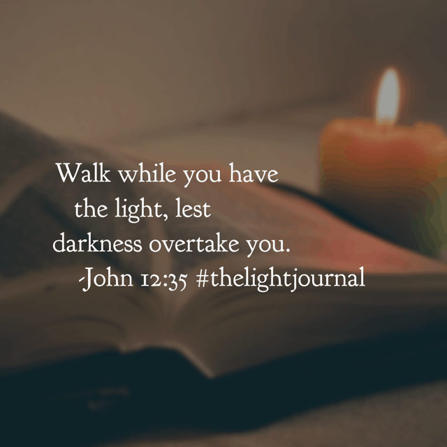 Jesus chose an everyday visible experience to explain a lifetime intangible decision. I can't hold light in my hand; yet Jesus holds my hand and walks with me every step of life's journey. In today's #thelightjournal #biblereadingplan , Jesus was prompting his listeners to choose to see him while he stood in front of them. I think we miss seeing Jesus often because the darkness is so deep. This Monday, let's not miss him! Anybody with me?