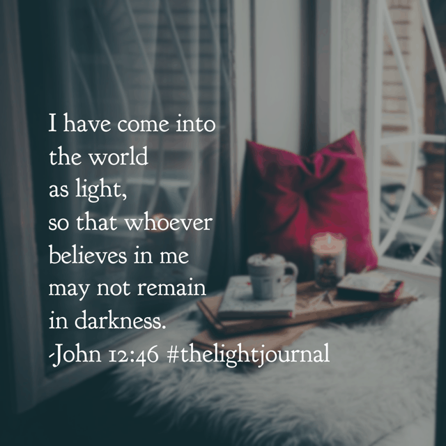It's #simplytuesday and I'm so very thankful for Jesus, the Light of the world! We don't have to allow the darkness to penetrate our souls and render us helpless! As Christians, we have the Eternal Light, Jesus, living in us. Let your light shine bright! #thelightjournal #biblereadingplan#hellomornings #goodmorninggirls