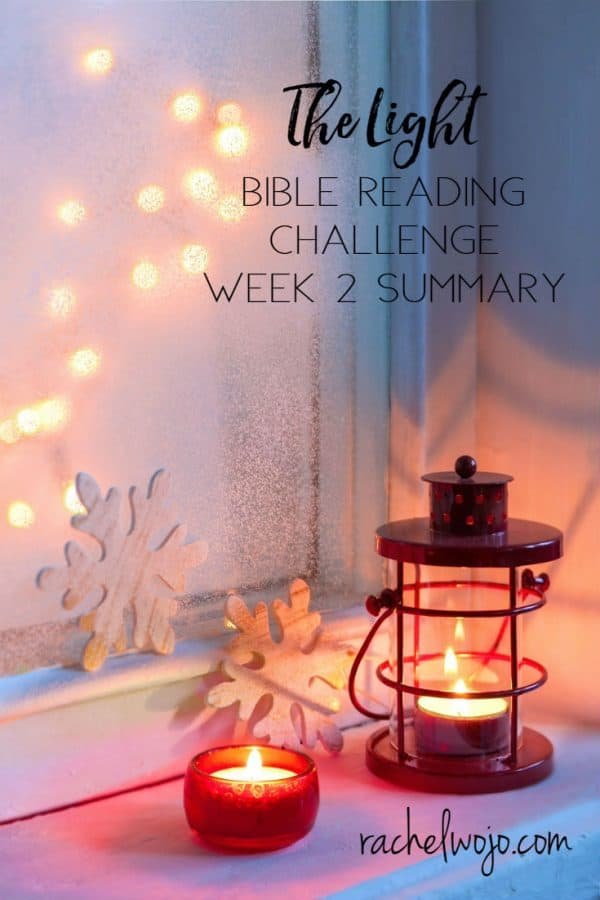 The Light Bible Reading Challenge Week 2 Summary