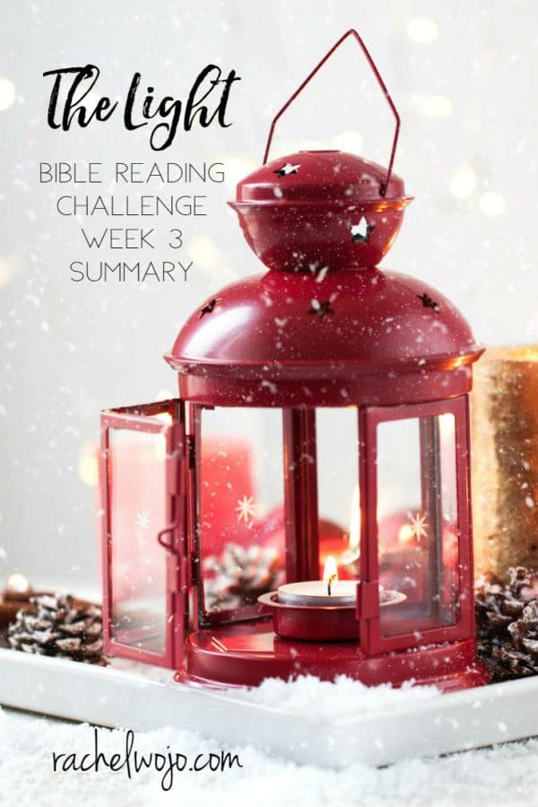 The Light Bible Reading Challenge Week 3 Summary