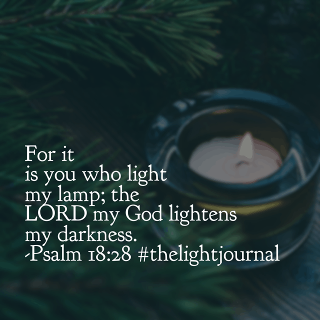 Darkness can seem overpowering. Circumstances can feel overwhelming. But what a wonderful reminder passage to close out December and our monthly Bible reading challenge! There is no dark too dark for the Light of the world.