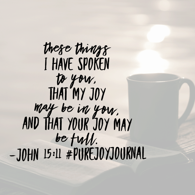 "What things did he write to put joy in our hearts? ""As the Father has loved me, so have I loved you. Abide in my love. If you keep my commandments, you will abide in my love, just as I have kept my Father's commandments and abide in his love."""