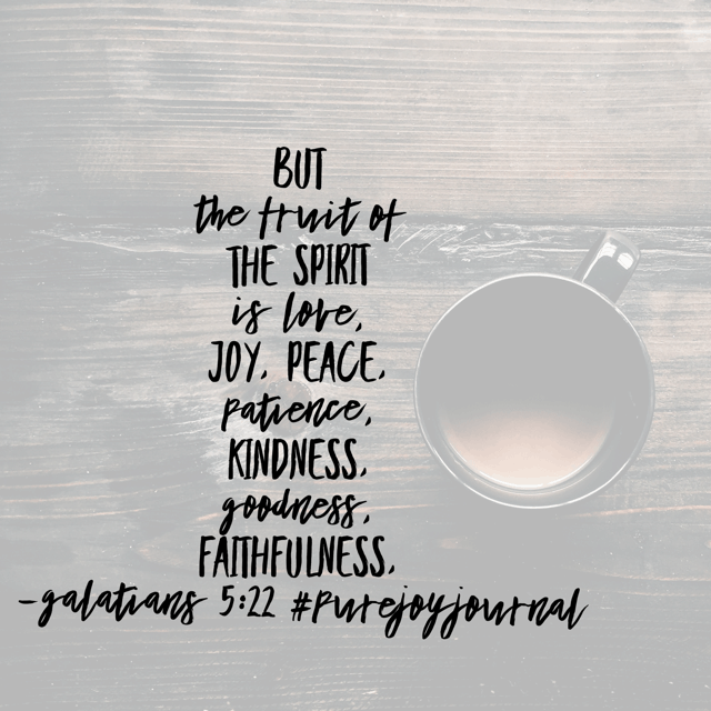It can feel impossible to live a life that results in beautiful fruit. Be joyful when things aren't going our way? That's too hard! But our effort isn't what makes the fruit.