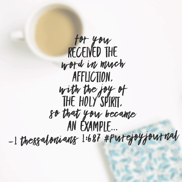What a challenge to us today! What if, in the midst of difficult circumstances, we embraced God's Word, allowed the joy of his Spirit to radiate in our souls, and the difference in our attitudes was so remarkable that folks took notice?