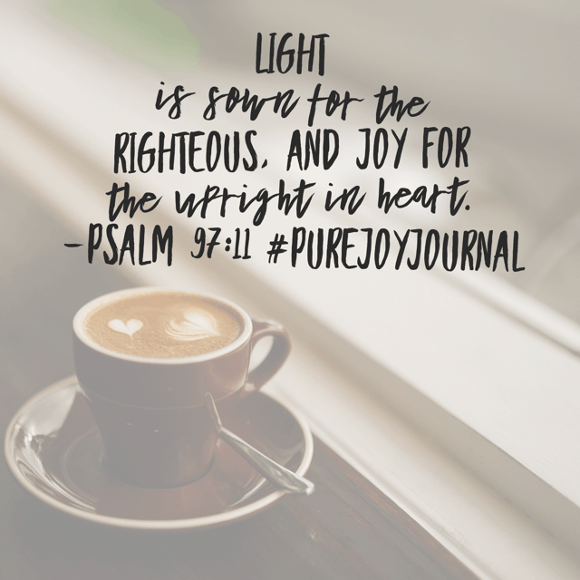 Joy results from doing right. While it seems simple enough, we (I) can get bogged down, searching for light or guidance from God, when I just need to do the next right thing. And the next right thing. And the next.