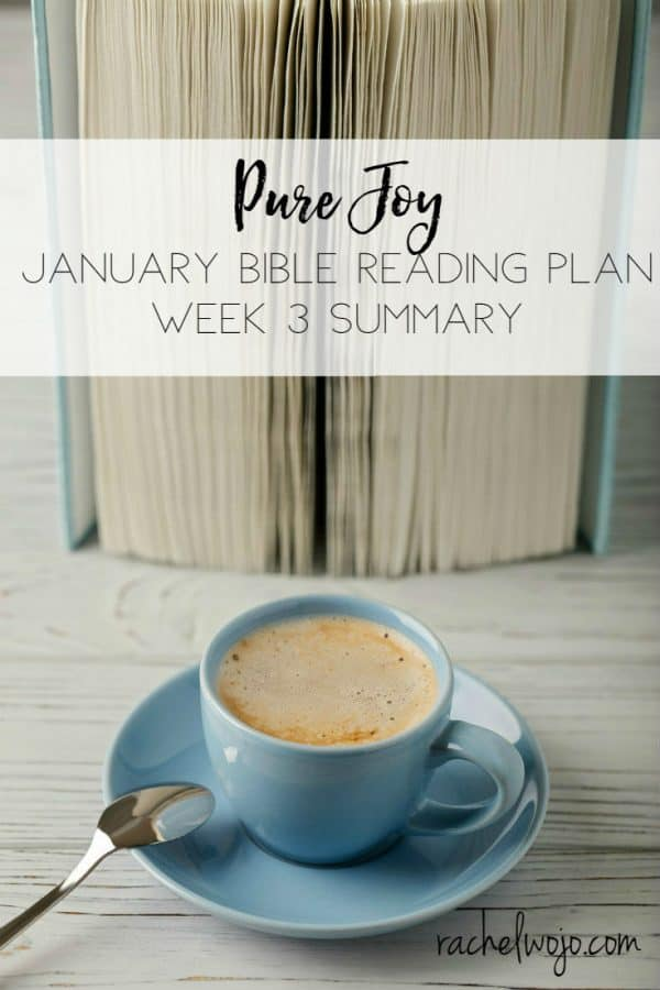 January 2018 Bible Reading Week 3 Summary