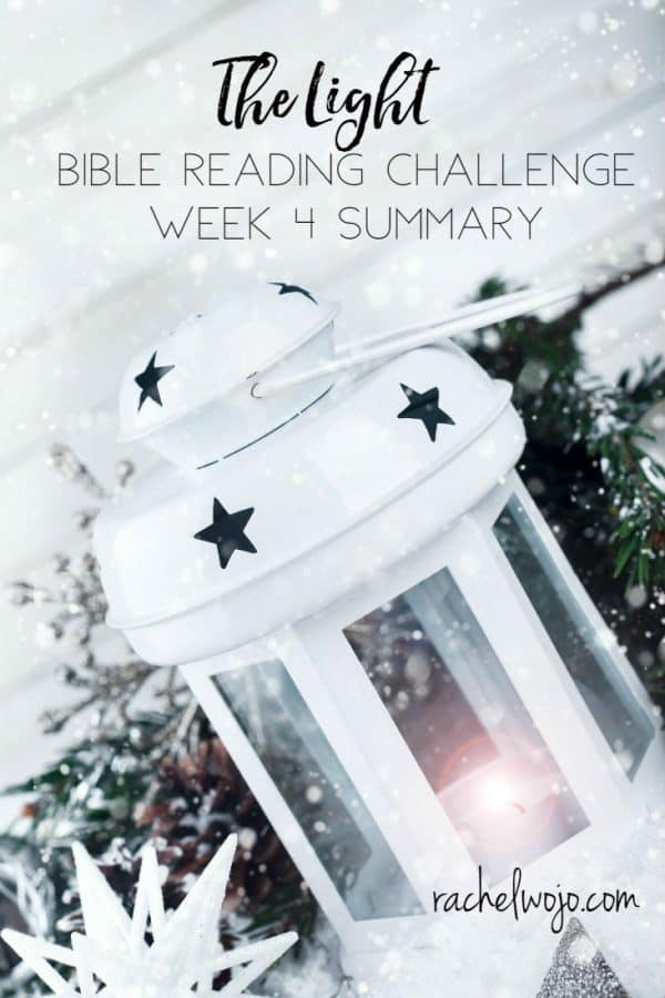 The Light Bible Reading Challenge Summary Week 4