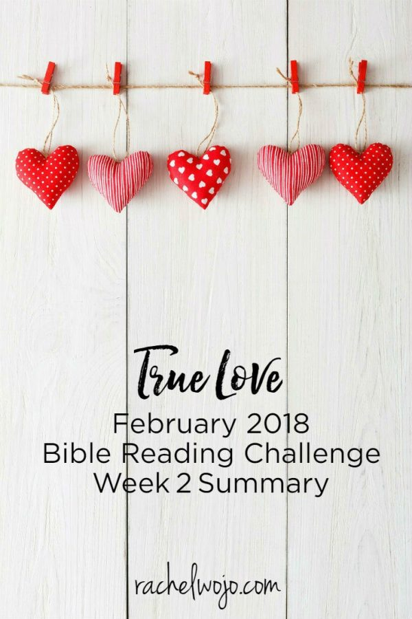 February 2018 Bible Reading Plan Week 2 Summary