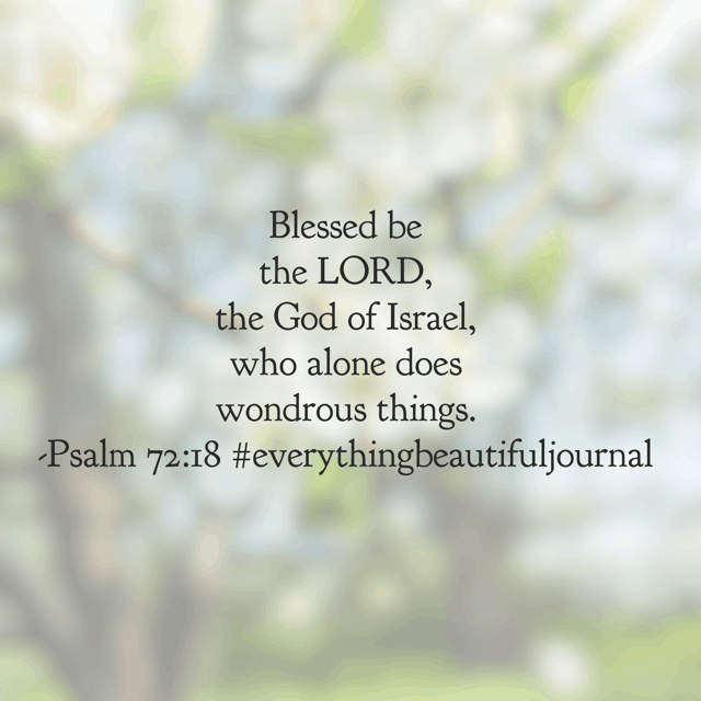 He does wondrous things. Things that we can't fathom. Things that are beyond our dreams. Things bigger and better than we can ask or imagine. #everythingbeautifuljournal#biblereadingplan