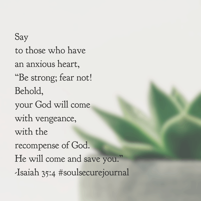 An anxious heart isn't something always visible. I don't know what secret burden or worry you carry. But Jesus does. With many holidays, the day after we quickly move on to the next thing. With Easter? The same resurrection power of yesterday still reigns today. Whatever your Monday holds, be strong; fear not!! #soulsecurejournal#biblereadingplan #winningoverworry