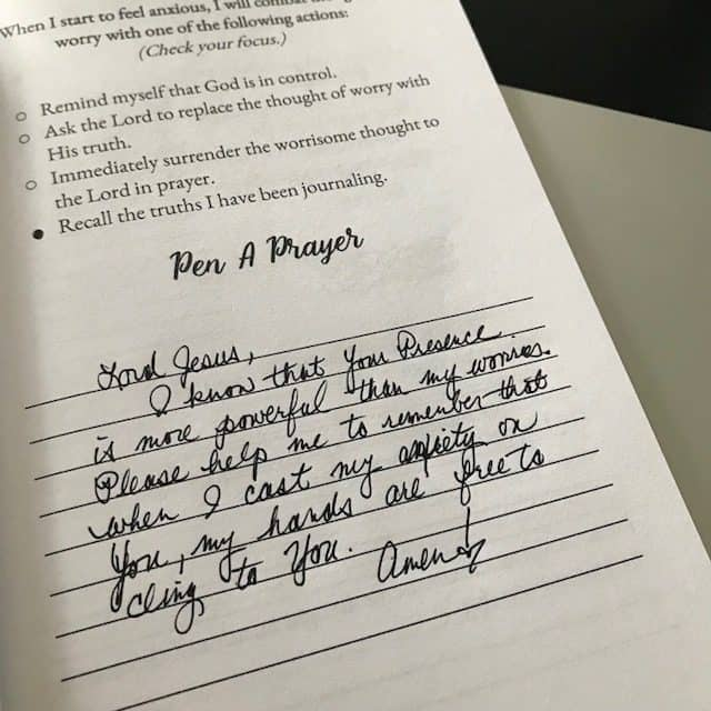 When I cast my anxiety on Jesus, then my hands are free to cling to Him! #soulsecurejournal#biblereadingplan#winningoverworry