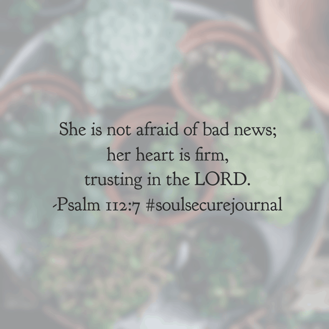 The opposite of worry? Trusting God to be Who He says He is. When we trust him fully, worry and fear are banished! Have a thriving Thursday remembering your God is in control! #soulsecurejournal #biblereadingplan#winningoverworry
