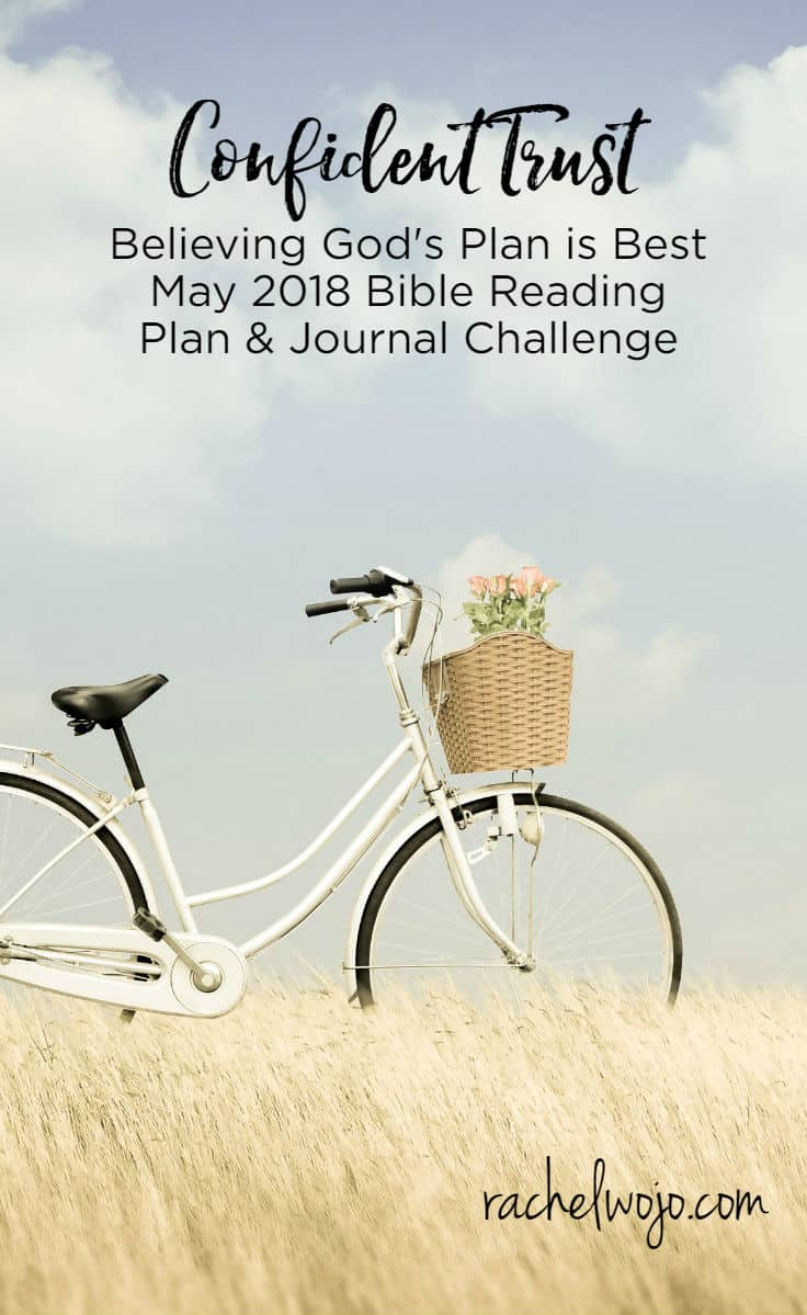 May 2018 Bible Reading Plan and Journal Challenge Trust is a strong word, isn't it? I can remember a sermon illustration about trust from when I was a child. My pastor placed a chair across the room and began to talk about how much he trusted that chair would be a great fit for him. He walked closer and closer to it, describing its beauty and strength...