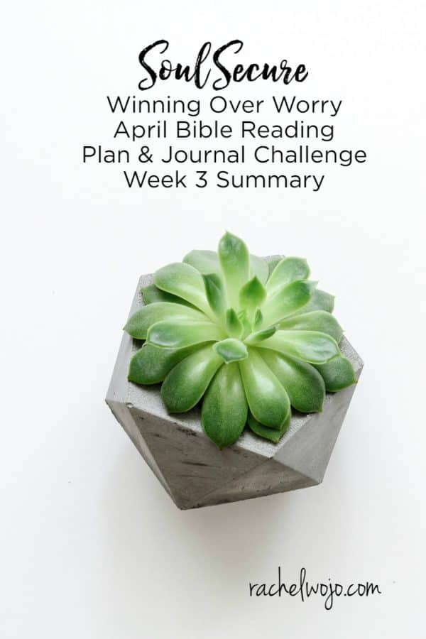 Soul Secure Bible Reading Plan Week 3 Summary