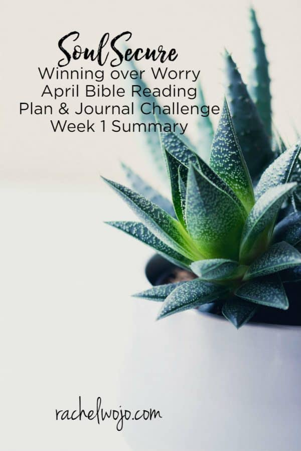 Soul Secure Bible Reading Plan Week 1 Summary