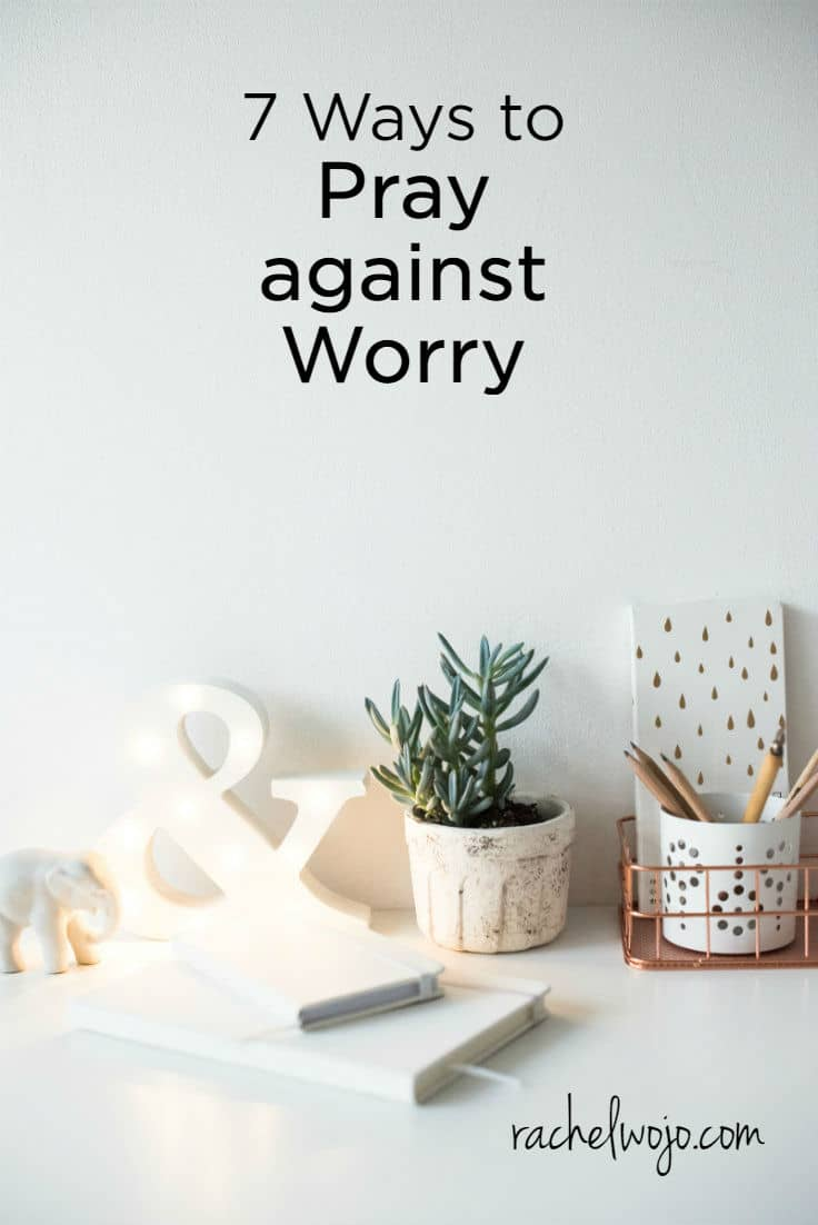 Once worry strikes, it can be incredibly difficult to stop. I don't have to tell you this because you've experienced it. One small thought of care entered your mind and before long, your brain transformed into full-blown anxious mode. In the Soul Secure Bible reading plan and journal, I emphasize that in order to win over worry, we must catch ourselves choosing that first worried thought before it escalates into a tornado. Prayer is an incredible strategy to combat worry! Last week in our Bible reading challenge Facebook group, I shared 7 ways to pray against worry. Many readers commented about how helpful these prayer points are and I think you'll find them to be a personal gift of 7 ways to pray against worry.