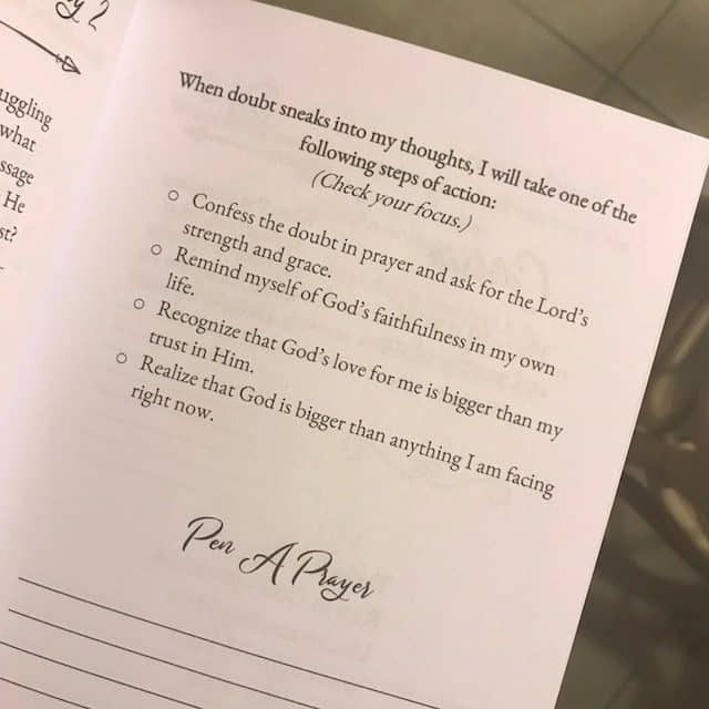 Struggling to trust God's plan? Take one of these steps to combat doubt! Tonight I'm fully recognizing that God's love for me is far bigger than my trust in Him. #biblereadingplan #confidenttrustjournal
