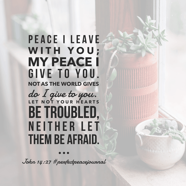 So thankful He is in charge of peace. Always accessible. Always available. Always able. #perfectpeacejournal#biblereadingplan